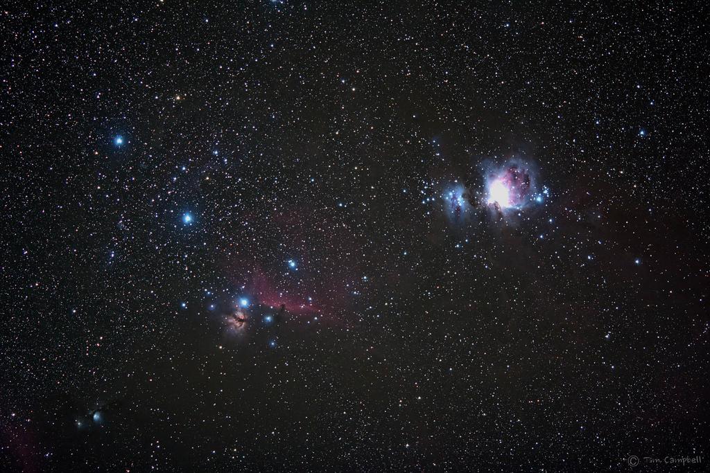 Lower Region of Orion