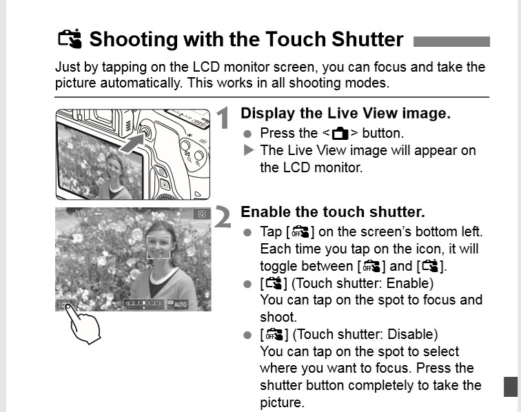 LV Auto Focus Without Shooting