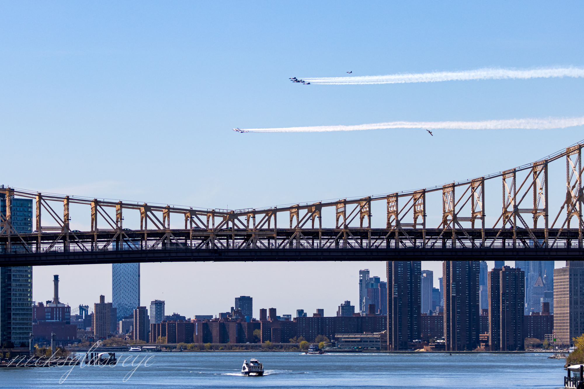 Thunderbirds and Blues over NYC