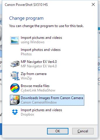 Change download image program