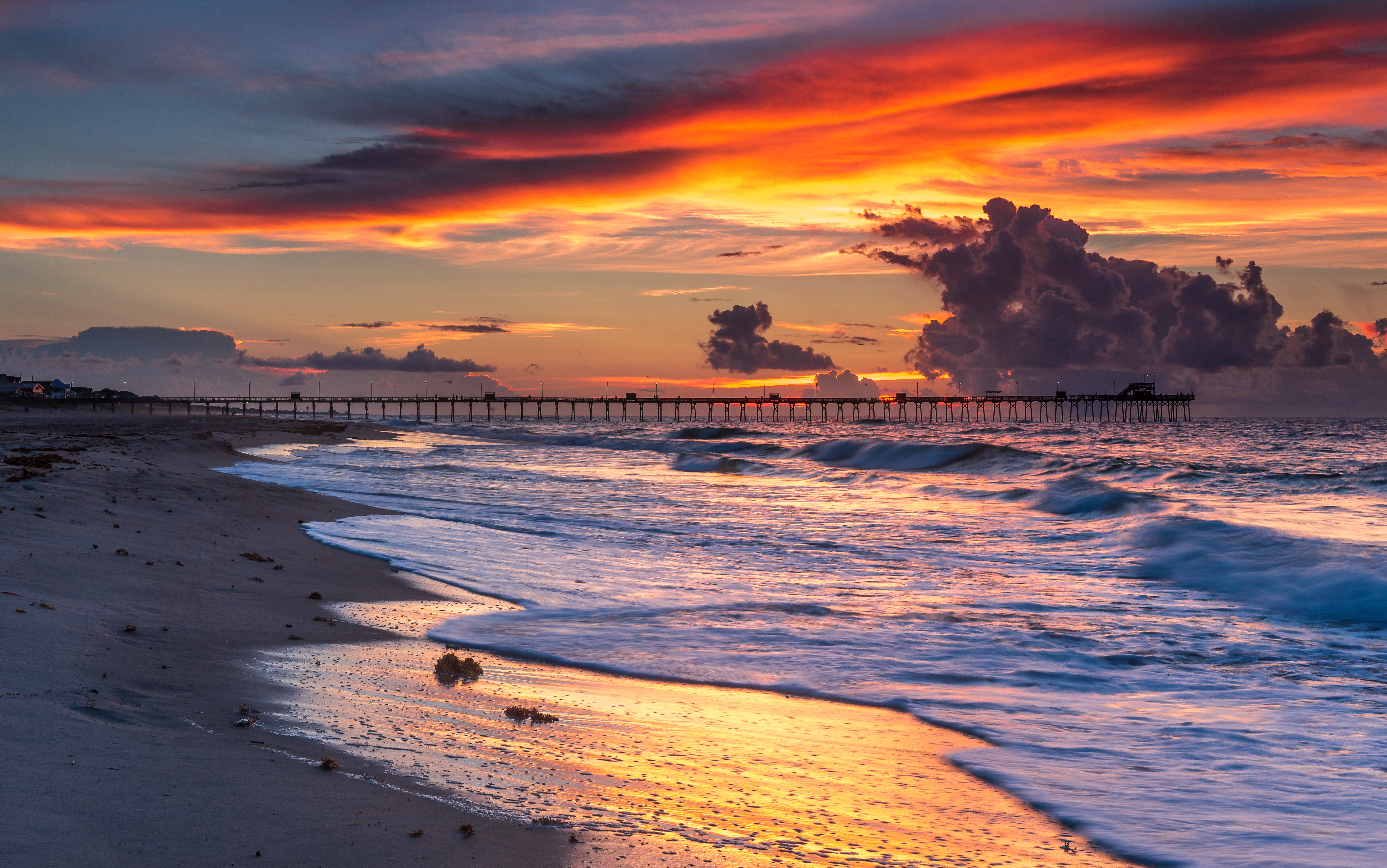 Pier at Sunrise on Emerald Isle