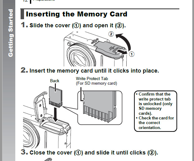 memory card locked simple new soultion canon community