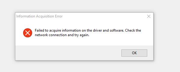 Information Acquisition Error