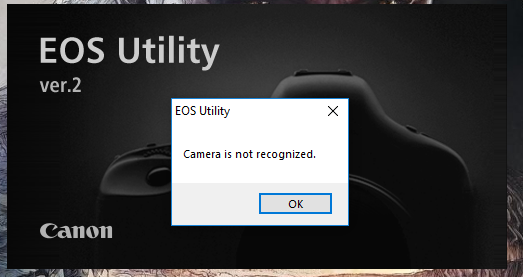 Eos utility not working