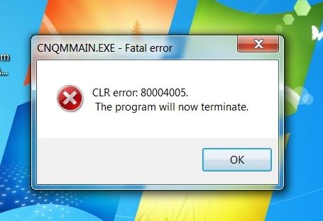 how to fix cnqmmain.exe error
