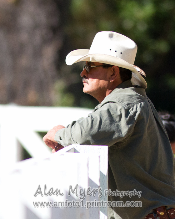Spectator at horse show